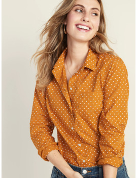 relaxed-polka-dot-poplin-shirt-for-women by old-navy