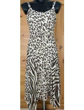 per-una-summer-animal-leopard-print-chiffon-lined-midi-shift-dress-size-10-uk by ebay-seller