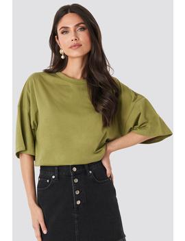 oversized-boxy-t-shirt-grün by na-kd