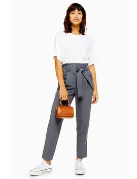 stitch-belt-peg-trousers by topshop