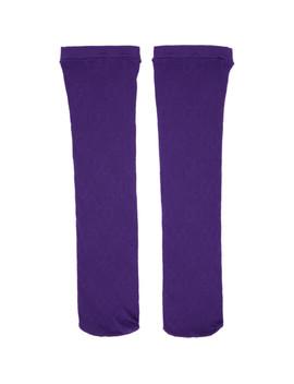 purple-gg-supreme-tights by gucci