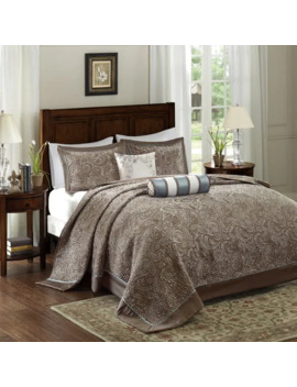 Madison Park Whitman Blue Jacquard Bedspread Set by Madison Park