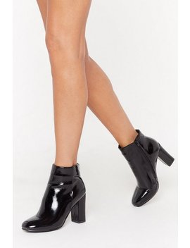 Pantent Square Toe Ankle Boot by Nasty Gal