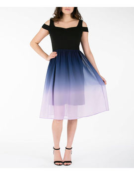 cold-shoulder-ombre-dress by rickis