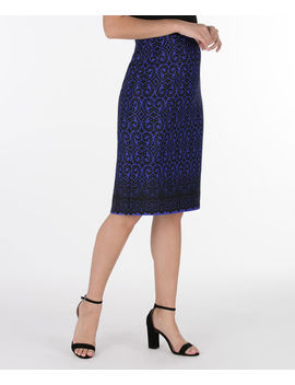 Lace Print Skirt by Ricki's
