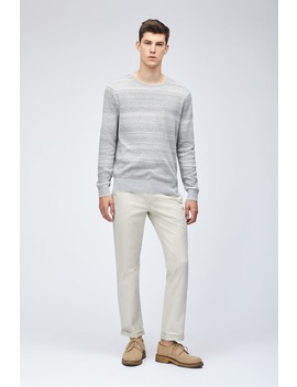 Cotton Linen Texture Stripe Crew by Bonobos