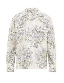 indo-floral-print-cotton-poplin-shirt by bode