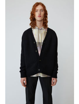 Relaxed Cardigan All Black by Acne Studios