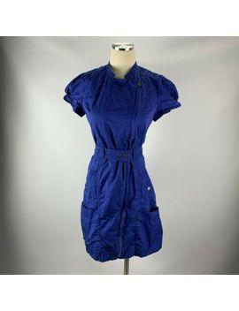 calvin-klein-sz-6-dress-royal-blue-snap-nurse-wrap by calvin-klein