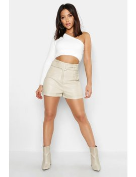 one-shoulder-fluffy-knitted-top by boohoo