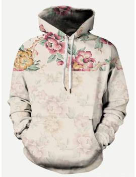 guys-floral-print-hooded-sweatshirt by romwe