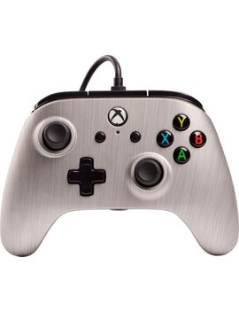 Enhanced Wired Controller For Xbox One   Brushed Aluminum by Power A