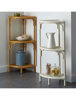 East Shore Rattan Collection – Corner Shelf by The Company Store