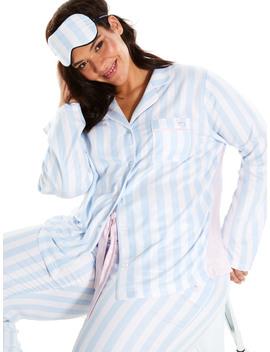 P.A. Plus Blue Stripe Flannelette Shirt by Peter Alexander