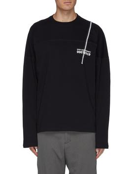 '0007' Graphic Print Long Sleeve T Shirt by Kiko Kostadinov
