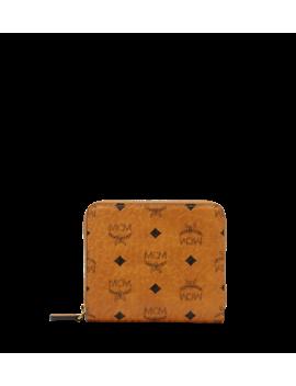 Zip Wallet In Visetos Original by Mcm