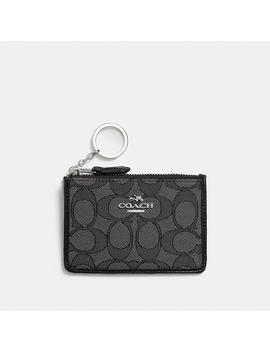 Mini Skinny Id Case In Signature Jacquard by Coach