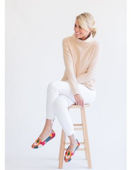 Natural Blush Park Slope Turtleneck In Terry Fleece by Dudley Stephens
