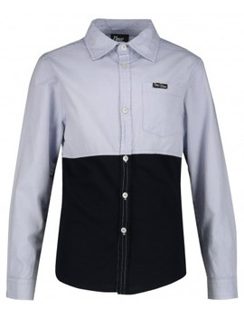 Chambray Colourblock Shirt by Edgars