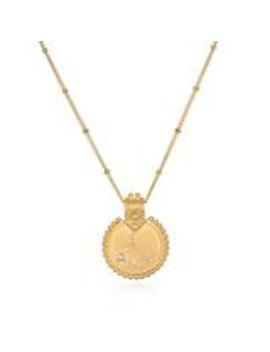 Mandala Zodiac Gemini Pearl Necklace by Satya