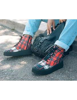 Mixed Plaid Casbah Boot by Tuk