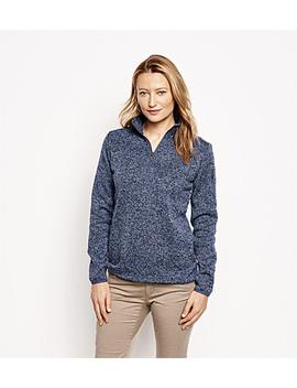 Marled Sweater Fleece Quarter Zip by Orvis