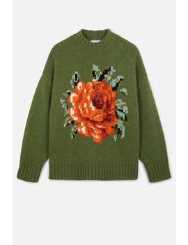 oversize-flower-sweater by ami-paris