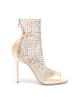 'galaxia' Strass Cage Satin Sandals by RenÉ Caovilla