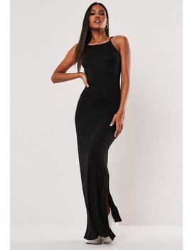 Robe Longue Noire Petite by Missguided