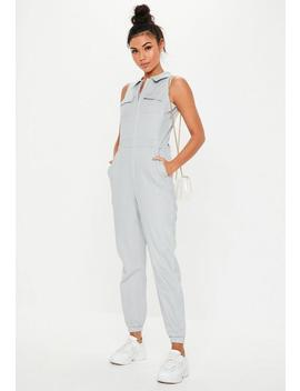Combinaison Sans Manches Gris Clair Utility by Missguided