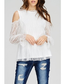 Lace Cold Shoulder Top by Casual Island, California