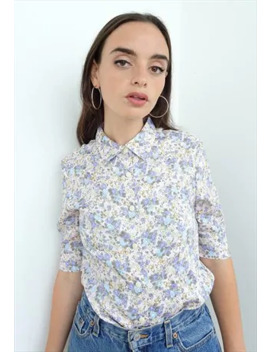 Vintage 70's Lilac, Floral Shirt. by I Want Your Love