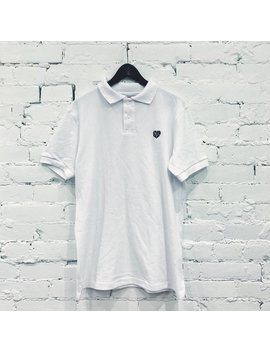 Sample: Heartbroken Logo Polo Shirt [Black On White] by The Legends League
