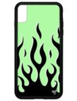 Neon Flames I Phone Xs Max Case by Wildflower Cases
