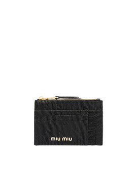 Lizard Print Leather Wallet by Miu Miu