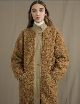 Caramel Faux Fur Coat by Pixie Market