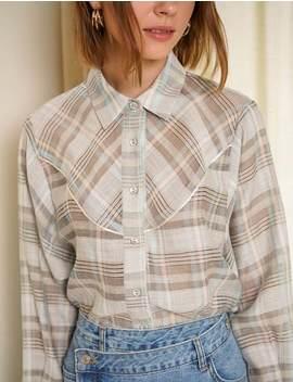Plaid Western Shirt by Pixie Market