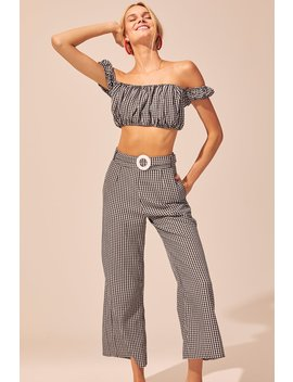Cropped Puff Sleeve Top by Solid & Striped