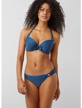 Antibes Ribbed Full Support Bikini Top by Bouxavenue