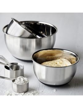 Non Skid Stainless Steel Mixing Bowls, Set Of 3 by Sur La Table