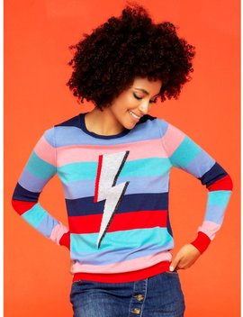 Khost Clothing Lightning Bolt Stripe Jumper by Khost