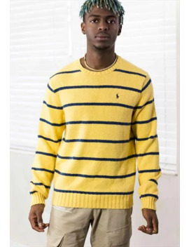 Vintage Ralph Lauren Striped Jumper Logo 90s S 19.5 by Ralph Lauren