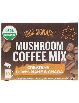 Four Sigmatic, Mushroom Coffee Mix, Fruity + Medium, 10 Packets, 0.09 Oz (2.5 G) Each by Four Sigmatic