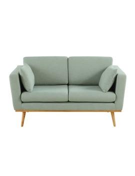 2 Sitzer Vintage Sofa, Grau Grün by Timeo