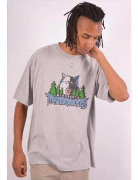 Vintage Nba Timberwolves T Shirt Top Grey by Messina Hembry Clothing