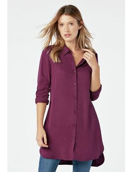 Button Down Tunic by Justfab
