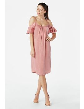 Cold Shoulder Slip Dress by Justfab