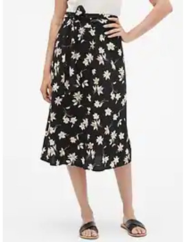 Print Maxi Skirt In Rayon by Gap