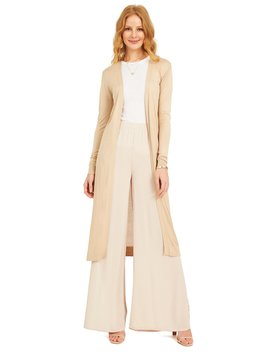 Long Sleeve Knit Sweater Duster by Suzy Shier