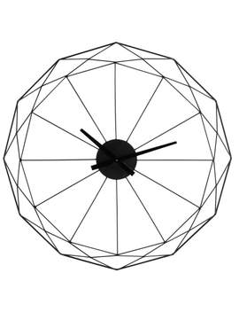 Wanduhr Aus Metall, Schwarz, D.80 by Origami